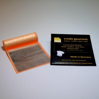 Jadalne srebro płatkowe w książeczce – 80 x 80 mm