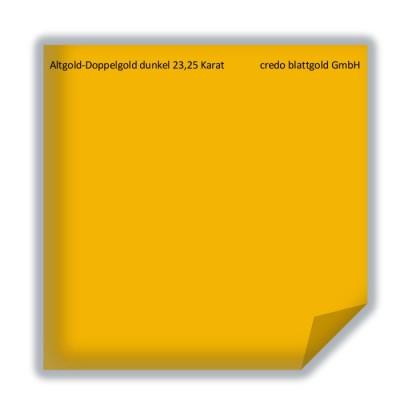 Złoto płatkowe transferowe postarzane podwójne ciemne 23,25 karata