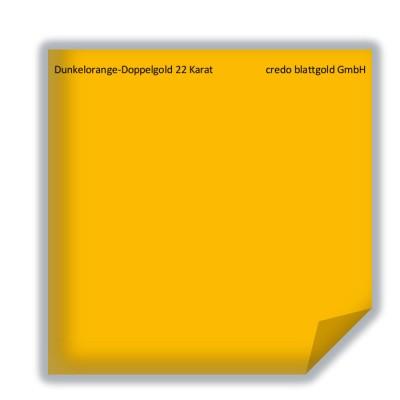 Złoto płatkowe transferowe ciemnopomarańczowe podwójne 22 karaty