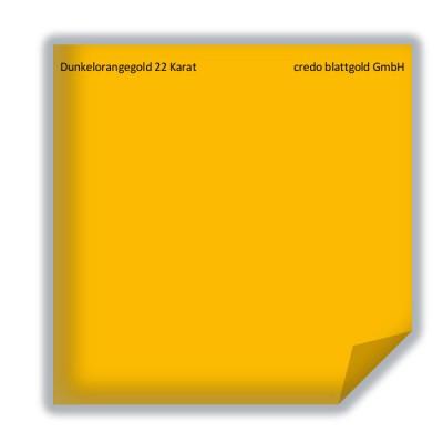 Złoto płatkowe transferowe ciemnopomarańczowe 22 karaty