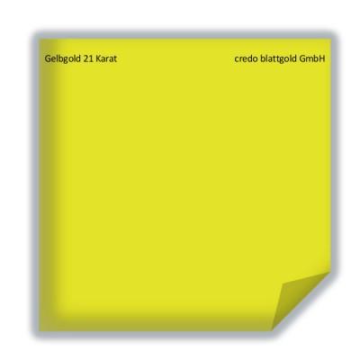 Złoto płatkowe transferowe żółte 21 karatów
