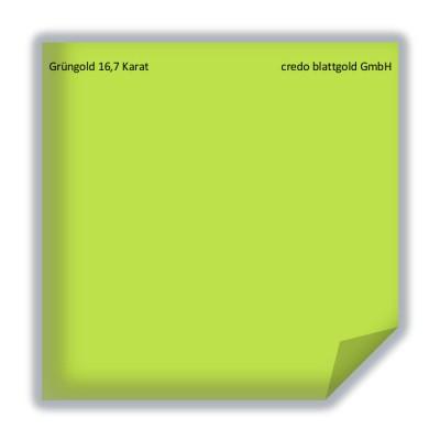 Złoto płatkowe transferowe zielone 16,7 karata