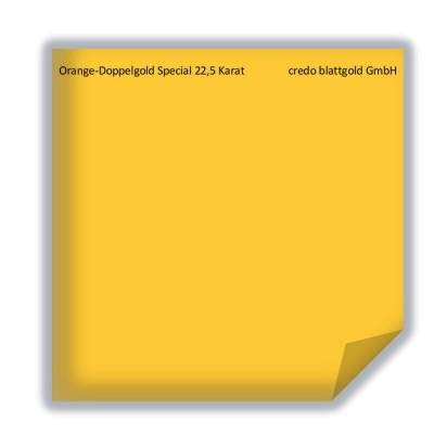 Złoto płatkowe transferowe pomarańczowe podwójne specjalne 22,5 karata