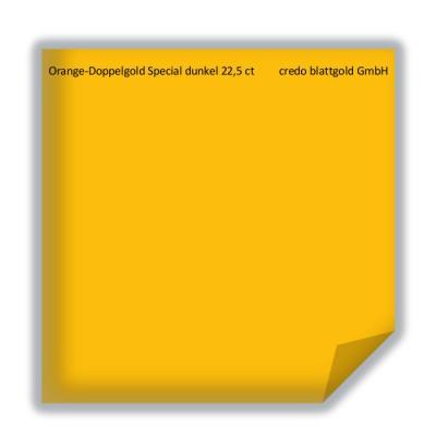 Złoto płatkowe transferowe ciemnopomarańczowe podwójne specjalne 22,5 karata