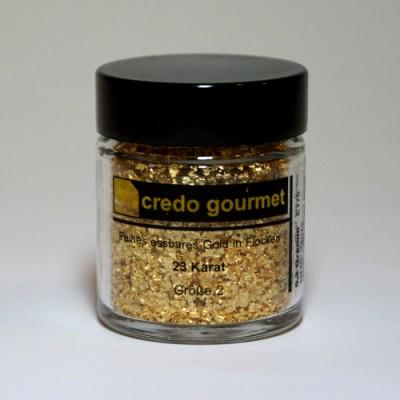 Złoto płatkowe 23 karaty w pojemniku – rozmiar 2