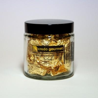 Złoto płatkowe 23 karaty w pojemniku – rozmiar 5