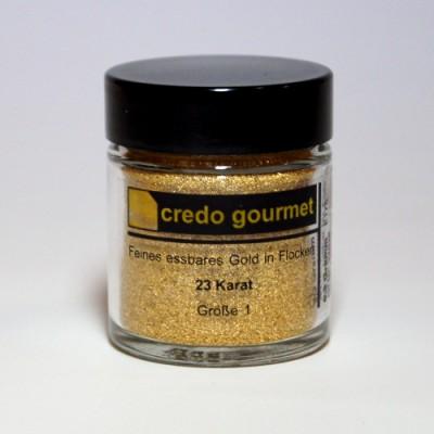 Złoto w proszku 23 karaty w pojemniku – rozmiar 1