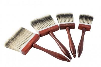 Pędzel z naturalnym włosiem borsuczym