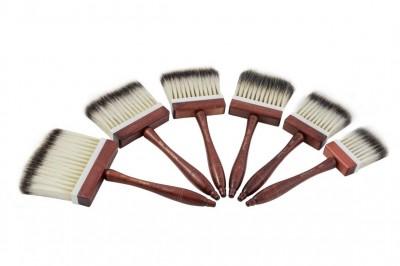 Pędzel z syntetycznym włosiem borsuczym