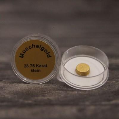 Złoto muszelkowe 23,75 karata, rozpuszczalne w wodzie – średnica ok. 7 mm