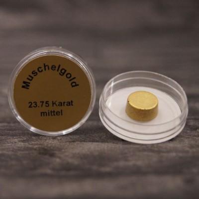 Złoto muszelkowe 23,75 karata, rozpuszczalne w wodzie – średnica ok. 10 mm