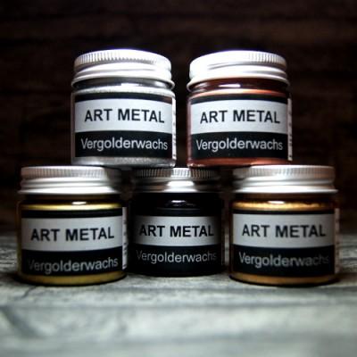 Zestaw pięciu wosków pozłotniczych Art Metal