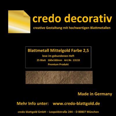 Szlagmetal luźny średni złoty – kolor 2,5