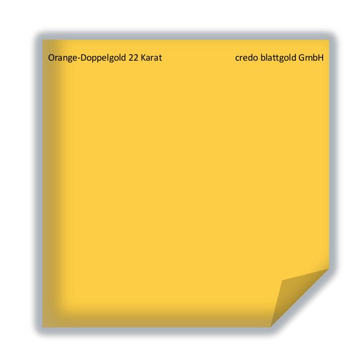 Złoto płatkowe transferowe pomarańczowe podwójne 22 karaty – 10 płatków
