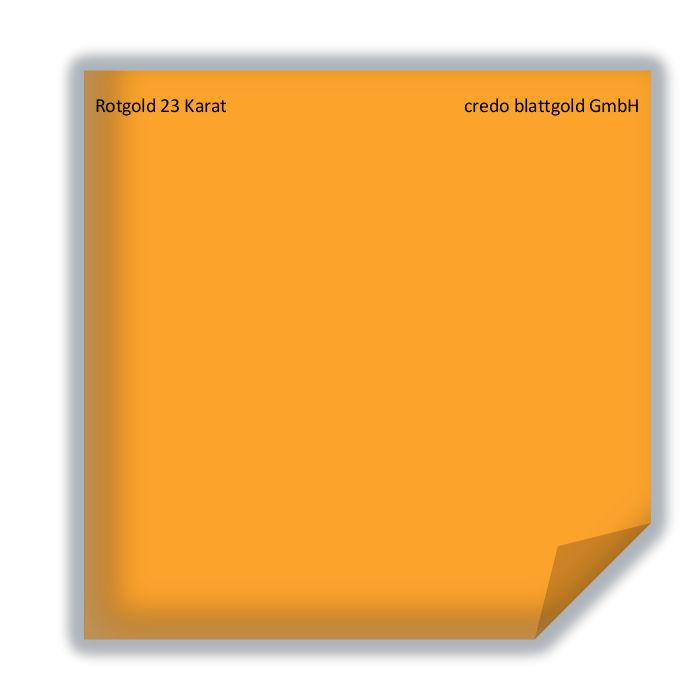 Złoto płatkowe transferowe czerwone 23 karaty – 10 płatków