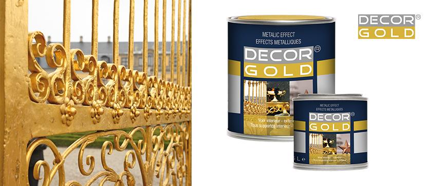 Lakiery metaliczne Decor Gold