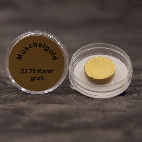 Złoto muszelkowe 23,75 karata, rozpuszczalne w wodzie – średnica ok. 15 mm