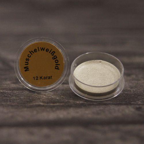 Białe złoto muszelkowe 12 karatów – rozpuszczalne w wodzie